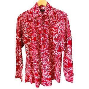Gucci Mens Tom Ford Paisley Red Iconic Print Shirt